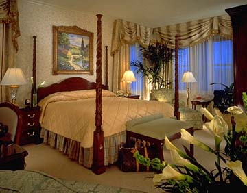 Guestroom at the Omni Shoreham in Washington D.C.
